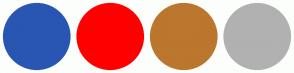 Color Scheme with #2956B2 #FF0000 #BB772E #B1B1B1