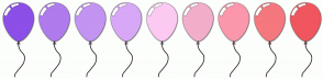 Color Scheme with #8C4FE8 #AF7BED #C394F2 #D8A8F7 #FCCAF2 #F2AECA #FC97AC #F5787E #F0565E