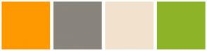 Color Scheme with #FF9900 #89847C #F2E2CD #8DB429