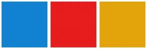 Color Scheme with #1082D0 #E71C1C #E3A30B