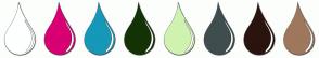 Color Scheme with #FEFFFF #D80073 #1698B8 #143306 #CFF3AF #3F4D4F #2A140E #9F775D