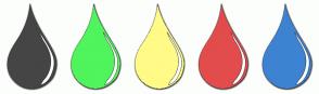 Color Scheme with #454545 #50F45C #FFFB86 #E34C4C #3D83D2