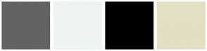 Color Scheme with #636363 #EEF3F4 #000000 #E3DFC3