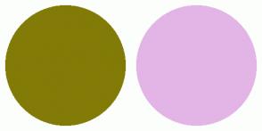 Color Scheme with #827B07 #E3B5E6