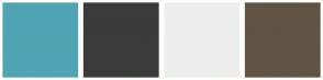 Color Scheme with #50A4B3 #3B3B3B #EDEDED #615444
