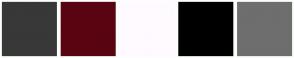 Color Scheme with #383838 #590411 #FFFAFF #000000 #6E6E6E