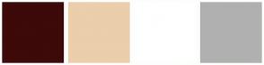 Color Scheme with #3D0909 #EBCEAB #FFFFFF #B0B0B0