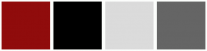 Color Scheme with #900C0C #000000 #DBDBDB #656565