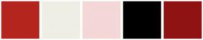 Color Scheme with #B4251E #EEEEE5 #F4D7D7 #000000 #901313