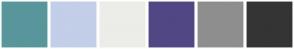Color Scheme with #59969C #C3CEE8 #ECECE9 #514785 #8E8E8E #343434
