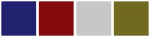 Color Scheme with #20226F #830B0B #C7C7C7 #726921