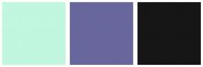 Color Scheme with #C1F6DF #68679D #161616