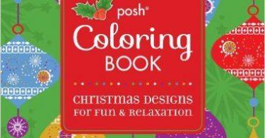 posh christmas coloring book