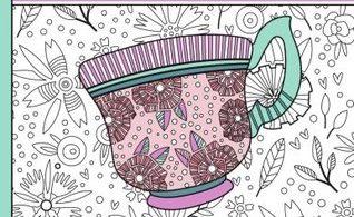 Garden Tea Party - A Calming Coloring Book
