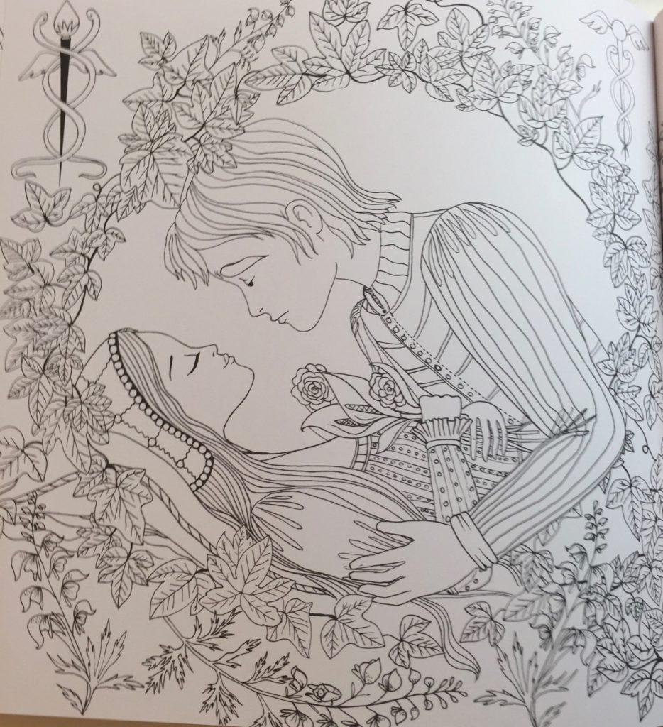 рисунок ромео и джульетта раскраска китая