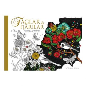 Faglar and Fjarilar Coloring Book (Birds & Butterflies)