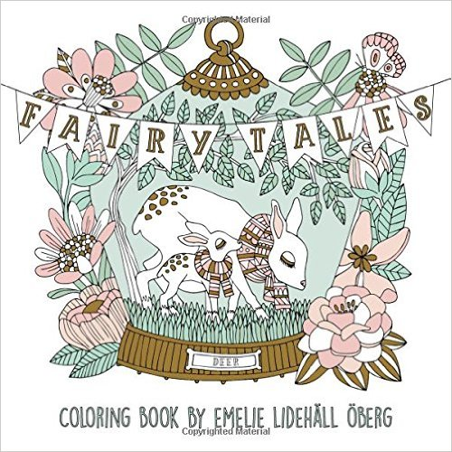 """Fairy Tales Coloring Book: Published in Sweden as """"Sagolikt"""""""