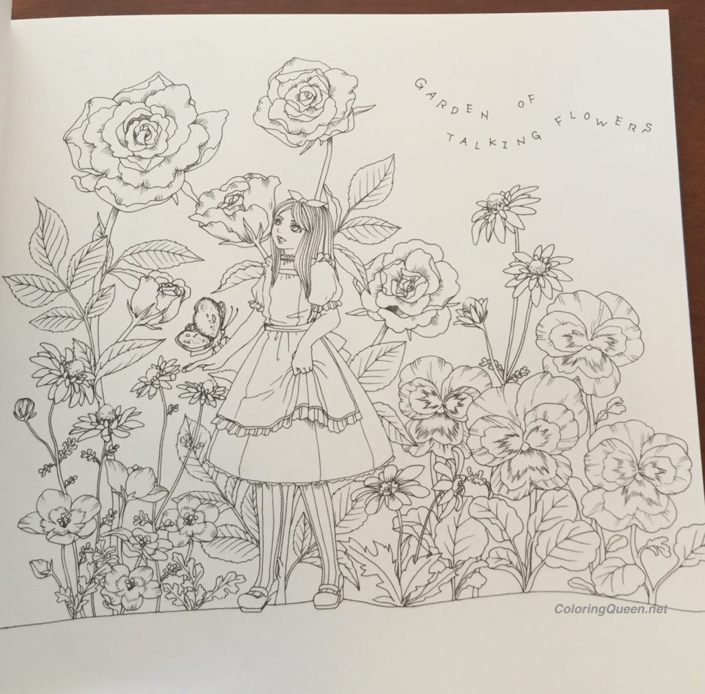 The Coloring Book Alice In Wonderland Coloring Queen