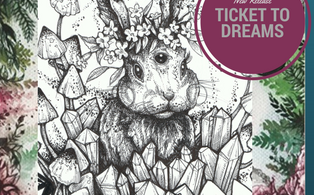 TICKET TO 314x195 - Ticket to Dreams Coloring Book by Karolina Kubikowska
