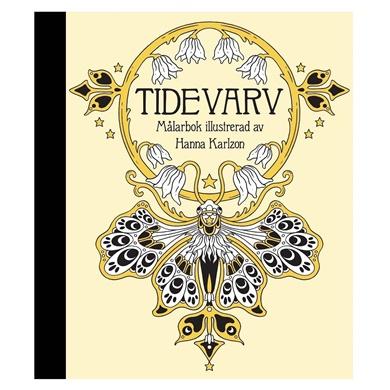 Malarbok Tidevarv Coloring Book by Hanna Karlzon cover