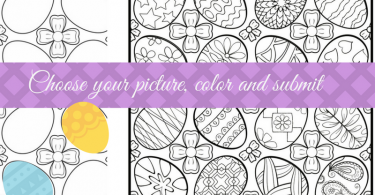 easter egg pages to color in