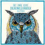 Het enige echte dierenkleurboek cover art featuring a blue owl