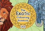 Exotic Colouring Notebook Cover A5 image