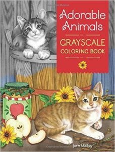 Adorable Animals – Grayscale Coloring Book