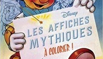 Les affiches mythiques Disney à colorier coloring book cover