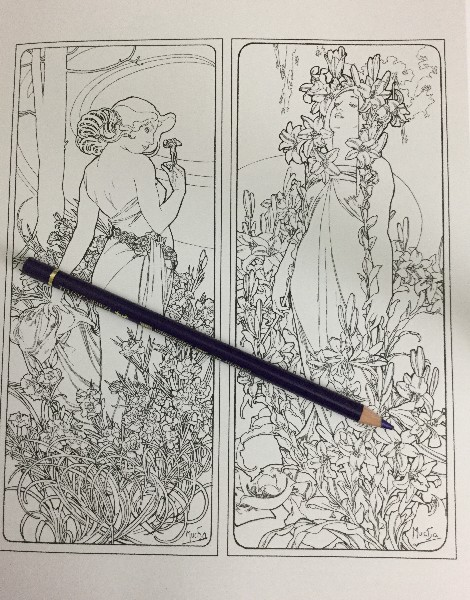 - Mucha Fantasy Coloring Book Review Coloring Queen