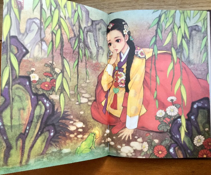 Fairy Tale Korean Illustrations Hanbok Coloring Book Review - Korean-hanbok-coloring-pages