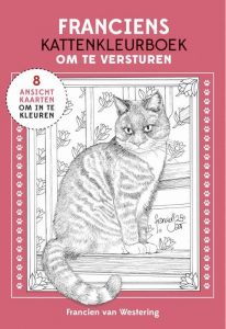 Franciens kattenkleurboek om te versturen Coloring Postcards Review