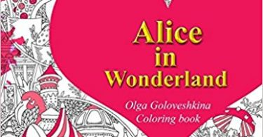Alice in Wonderland Coloring book cover by Olga Goloveshkina