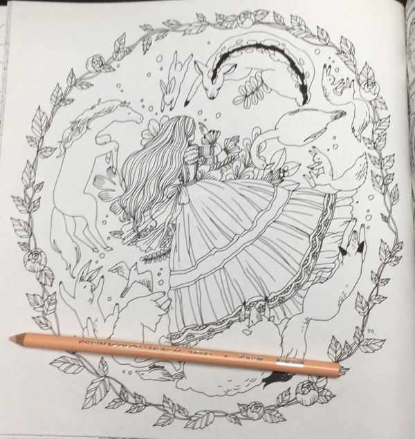Grimms Marchen Fairy Tales Coloring Book Review | Coloring Queen