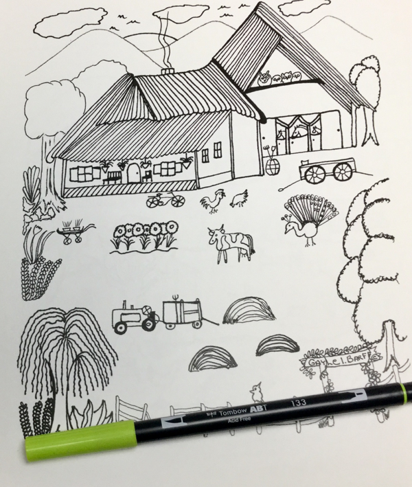 americana folk art coloring pages - photo#21