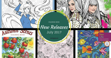 Coloring books to be released in July 2017 - check them out here