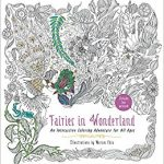 Fairies in Wonderland Coloring Book Cover