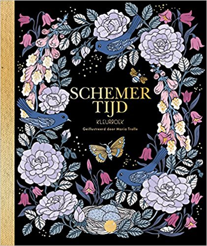 Dutch edition of Maria Trolle's coloring book Skymningstimman