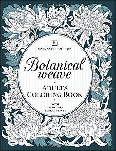 Botanical Weave Coloring Book