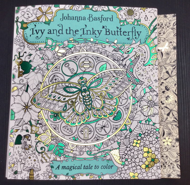 size comparison of Ivy and the Inky Butterfly and Secret Garden by Johanna Basford