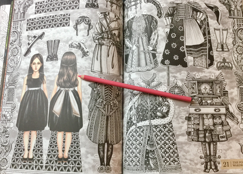 Paper dolls feature in the book