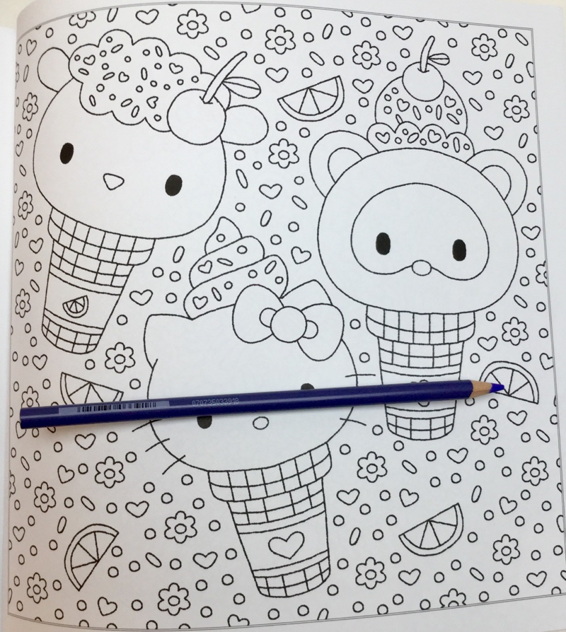 Hello Kitty and friends 2 coloring page | 894x800