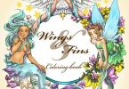 Wings and Fins coloring book cover