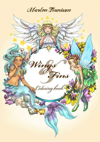 Wings and Fins Coloring Book