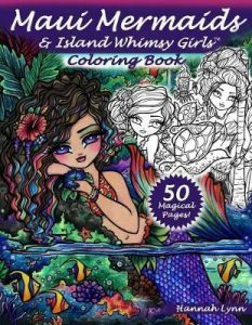 Maui Mermaids & Island Whimsy Girls  Coloring Book Review