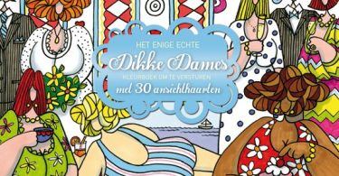 dikke dames postcard book 375x195 - Daily Coloring Book Review