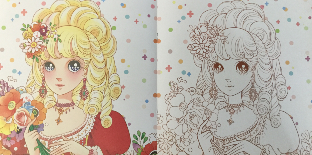 Princesses coloring book from China