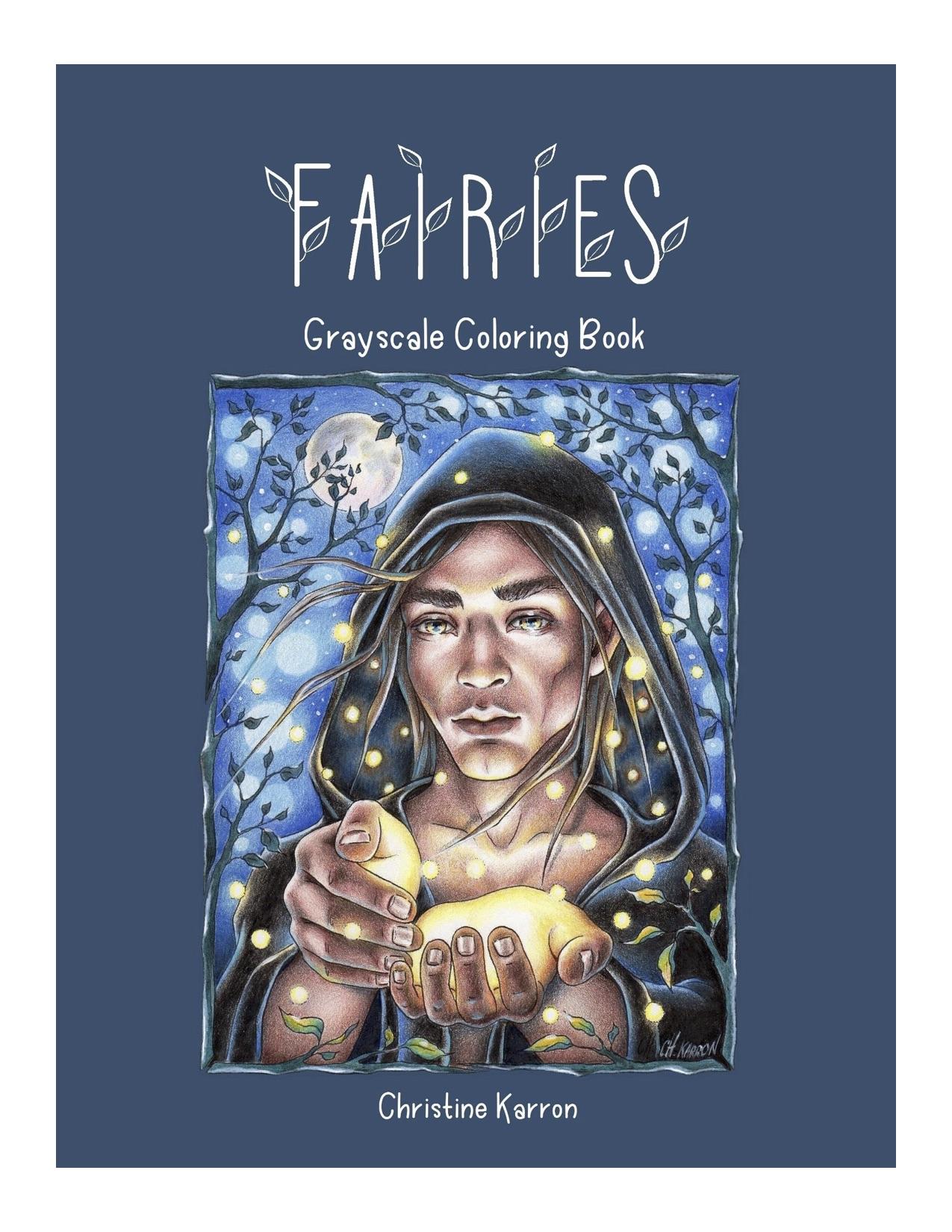 Fairies Greyscale Coloring Book