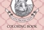 Cat Protection Japanese coloring book