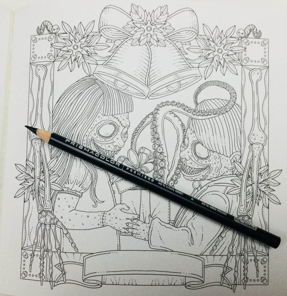 ghouliana and friend for ghosts of christmas coloring book